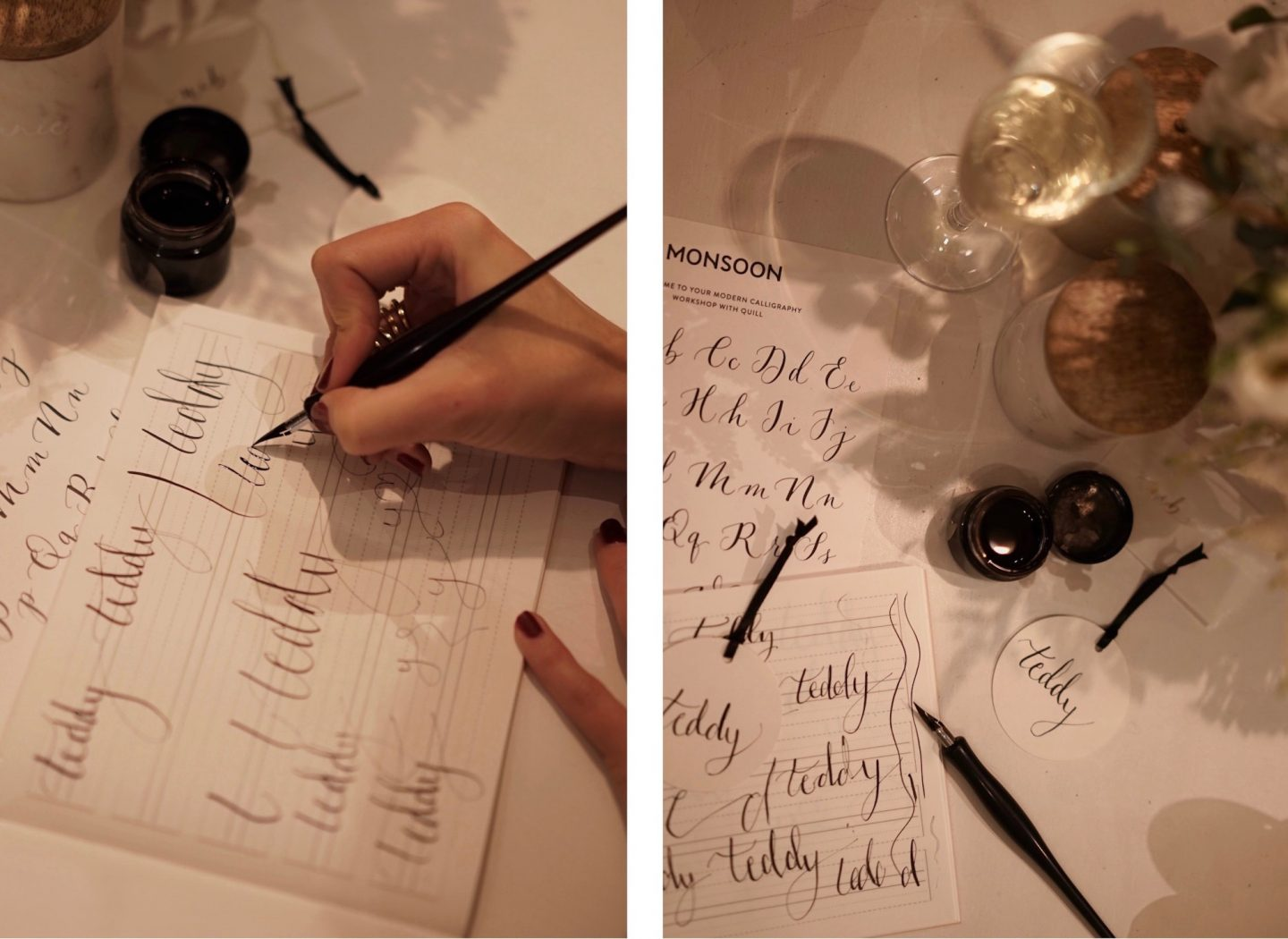 Quill London calligraphy class