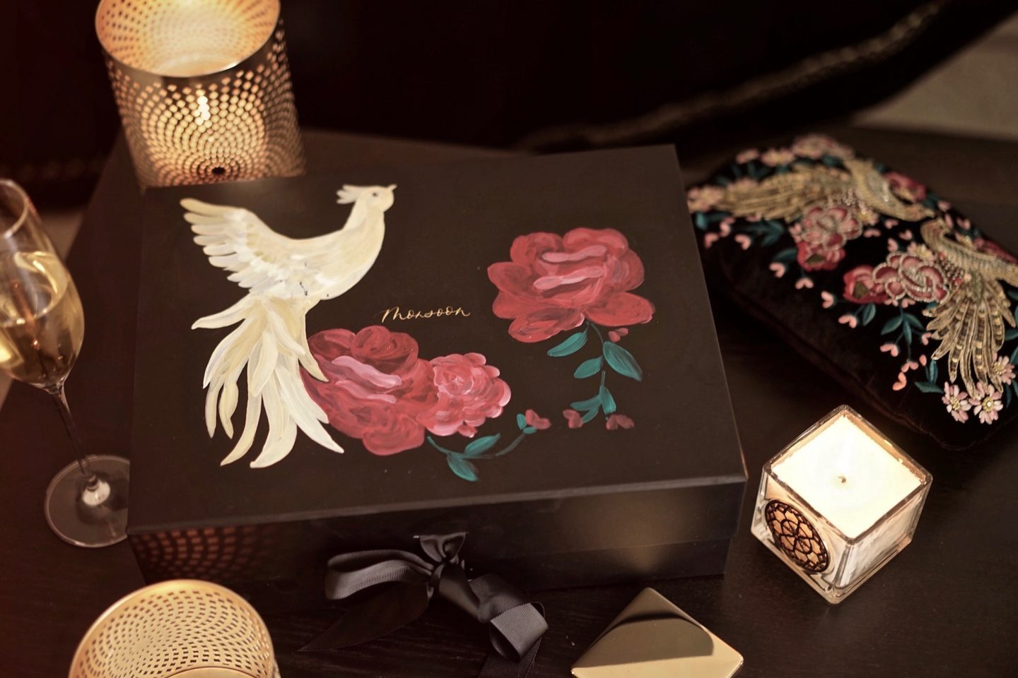 Monsoon painted gift box