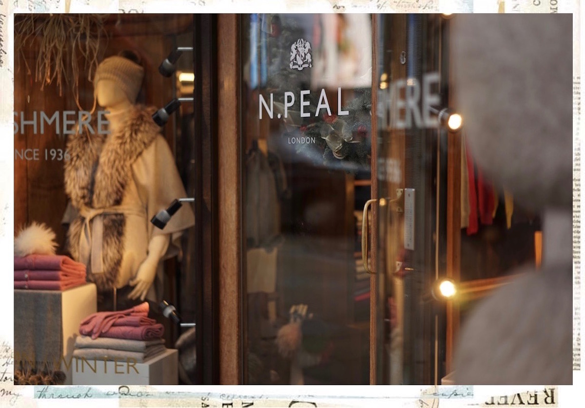 N Peal Cashmere Christmas Window