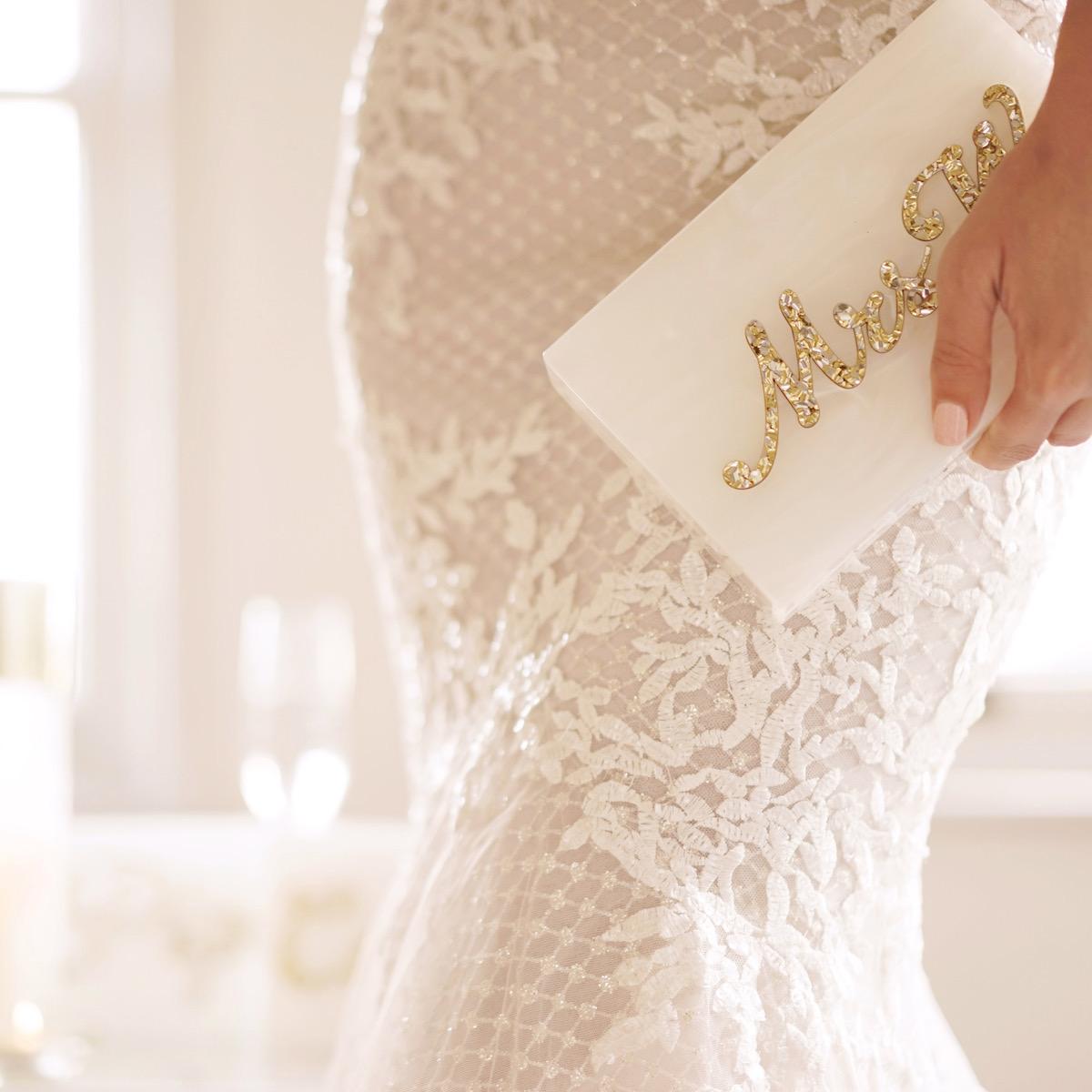 Ibiza Wedding Ca Na Xica Acrylic Custom Mrs Clutch