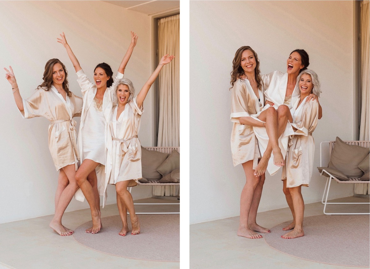Ibiza Wedding Ca Na Xica Bridesmaids